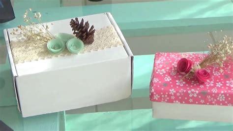 Reutiliza y decora tus cajas de cartón    YouTube