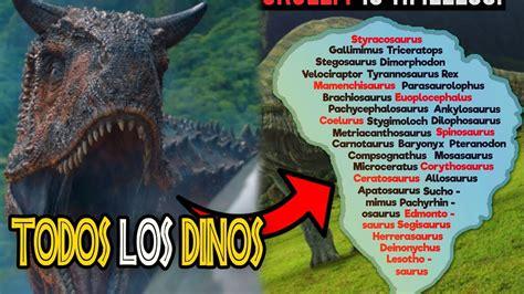 REVELADA la LISTA de TODOS los DINOSAURIOS CREADOS por ...