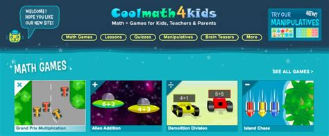 Review of CoolMath4Kids   A games & learning portal for ...