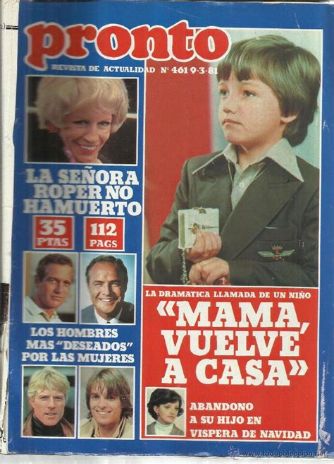 revista pronto. marzo. 1981. nº 461. pilar velá   Comprar ...