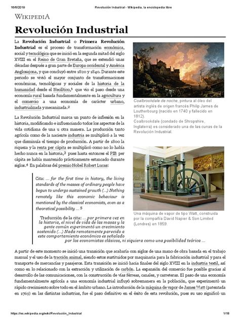 Revolución Industrial   Wikipedia, La Enciclopedia Libre ...