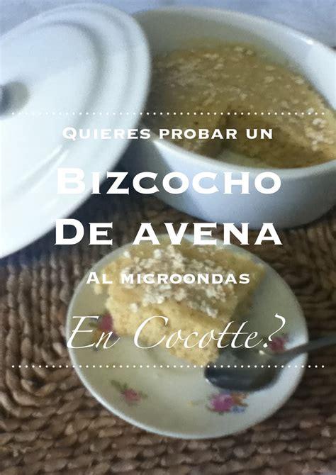 rezetas de carmen: Bizcocho express de avena en cocotte al ...
