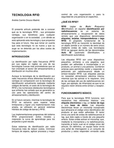 Rfid  articulo cientifico