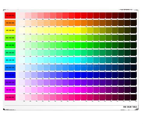 RGB Color Table stock illustration. Illustration of dark ...