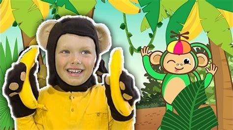 Rhymes And Songs For Children With Baby Monkey Banana ...