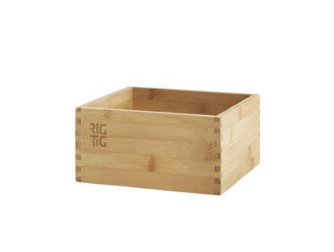 RIG TIG   Caja de almacenaje  madera de bambú : Amazon.es ...