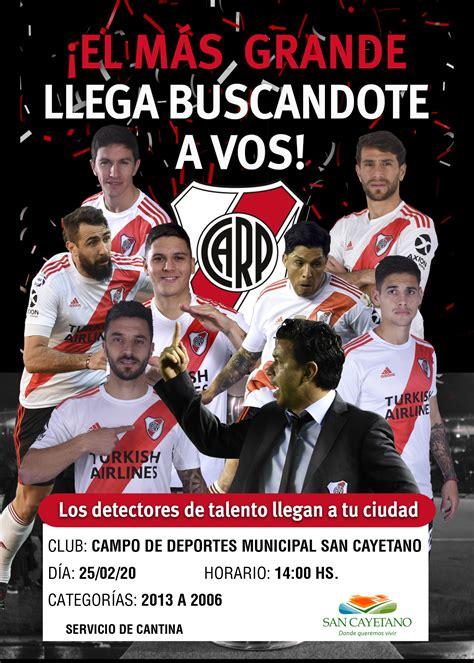 River Plate probará jugadores en San Cayetano   Caynet.com.ar