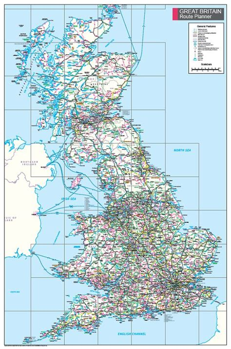 Rivers of Great Britain Wall Map