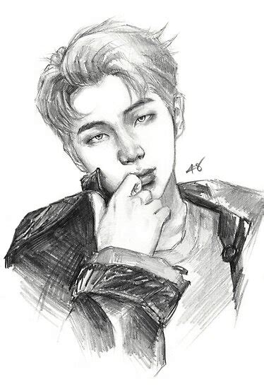 RM   pencil drawing  Poster by forinfinity | Redbubble