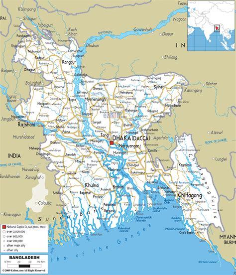 Road Map of Bangladesh   Ezilon Maps
