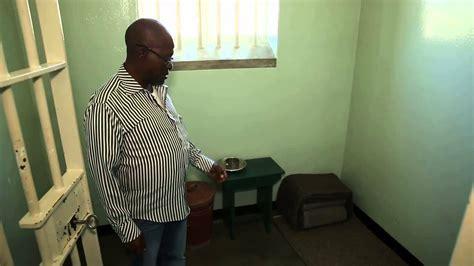 Robben Island Prison   Nelson Mandela s Cell   YouTube