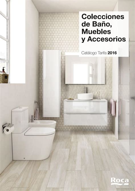 ROCA   Catálogo tarifa colecciones de baño, muebles y ...