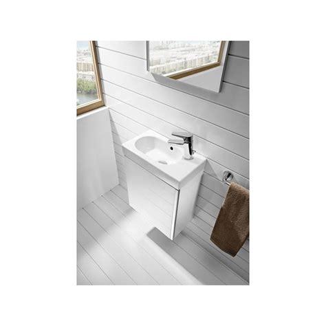 Roca Mini Pack Basin & Base Unit 450mm & Mirror Gloss White