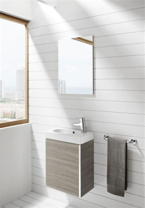 Roca Mini Pack with cabinet mirror  base unit, basin and ...