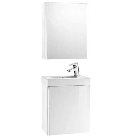 Roca Mini Unik With Mirror Cabinet Gloss White   SNH £270.00