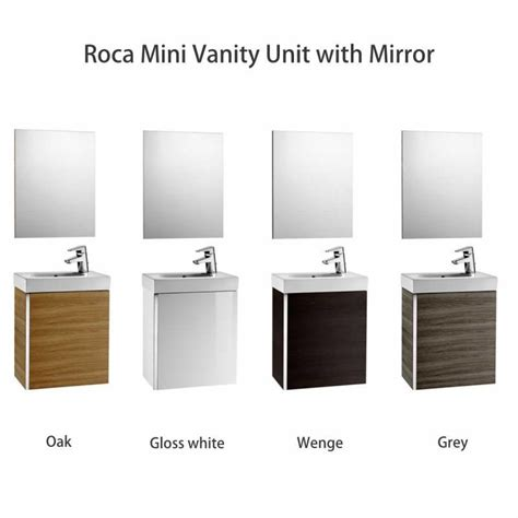 Roca Mini Vanity Unit with Mirror : UK Bathrooms