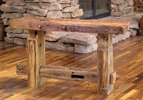 Rocky Mountain Sofa Table | Rustic Furniture Mall by ...