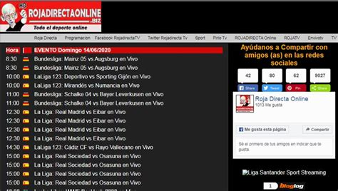 Rojadirecta online tarjeta roja liga santander premier ...