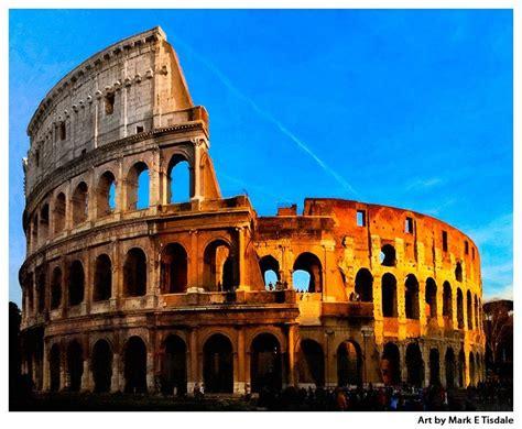 Roman Colosseum   Ancient Roman Architecture Art Print