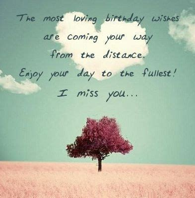 Romantic birthday wishes for long distance | notes ...