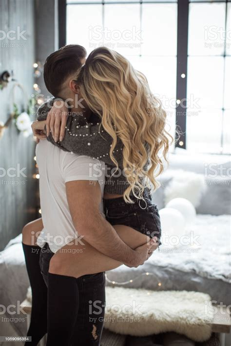 Romantic Couple On Valentine Day Stock Photo   Download ...
