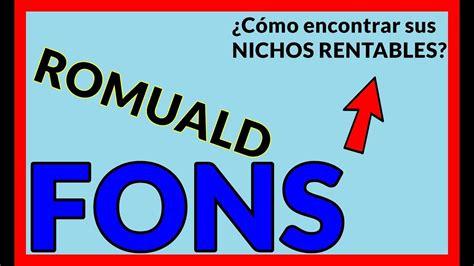 ROMUALD FONS | SUS NICHOS MÁS RENTABLES【2020】   YouTube