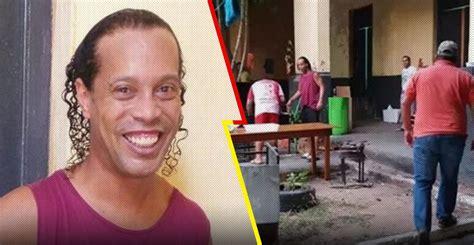 Ronaldinho armó una 'carnita asada' en la cárcel e invitó ...