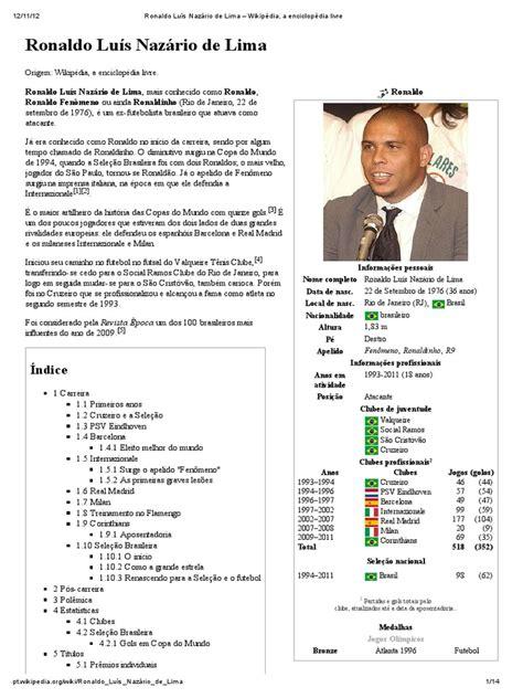 Ronaldo Luís Nazário de Lima – Wikipédia, a enciclopédia ...