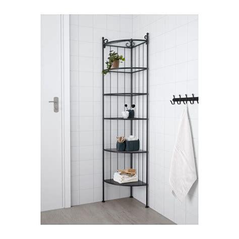 RÖNNSKÄR Corner shelf unit   black   IKEA