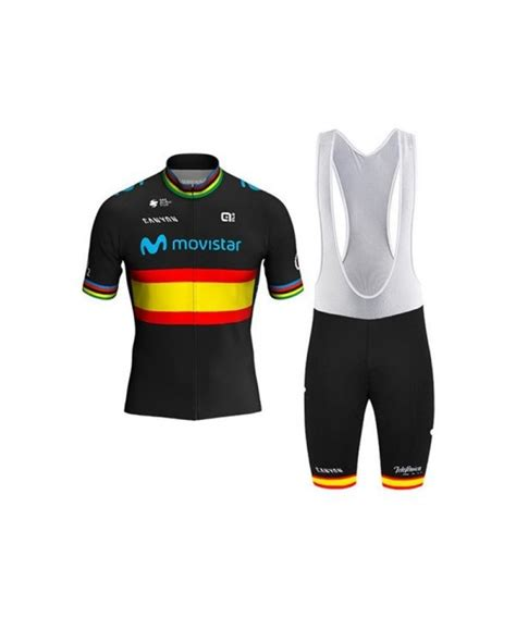 Ropa ciclismo de verano con tirantes MOVISTAR 2020 ...