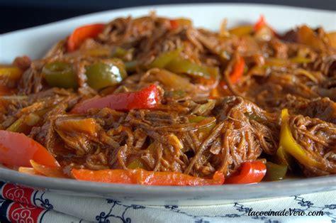 Ropa vieja   Mofongo con camarones en salsa   Ropa vieja ...