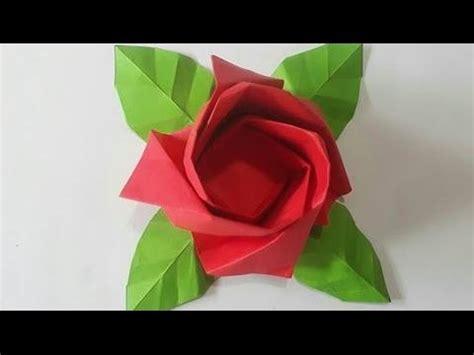 Rosa De Papel Papiroflexia   Flores de Papel