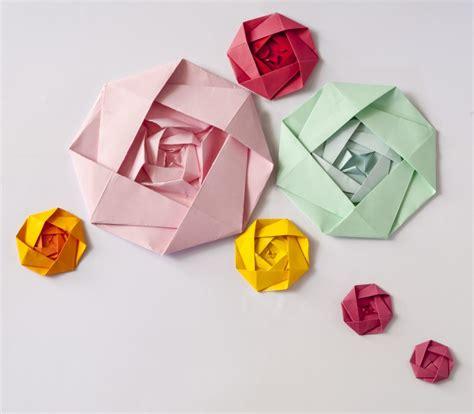Rosa De Papiroflexia Facil   Flores de Papel