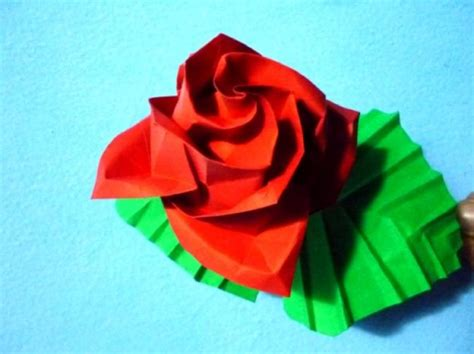 Rosa de papiroflexia   Imagui