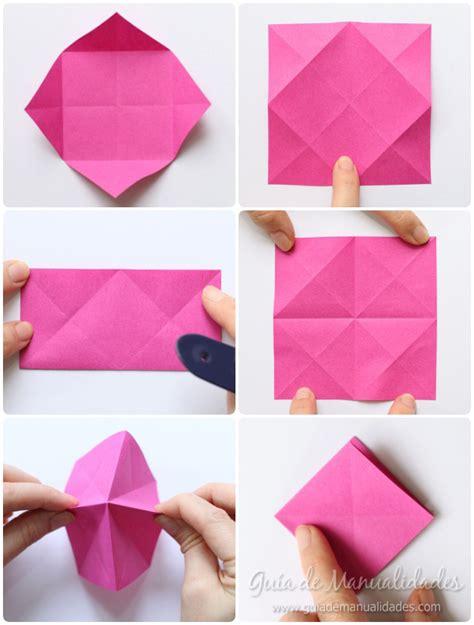 Rosas de origami en minutos   Guía de MANUALIDADES