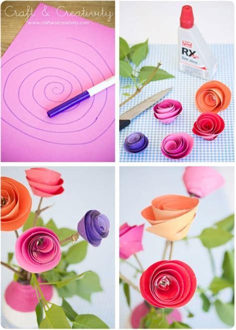 Rosas de papel. Cómo hacer una rosa de papel paso a paso ...
