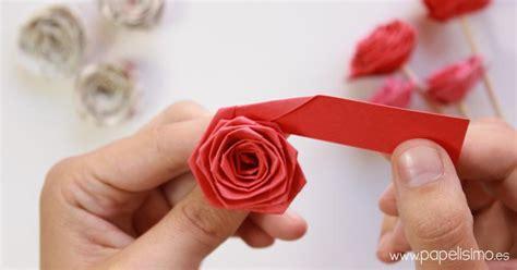 Rosas en papel para San Valentín: paso a paso | Manualidades