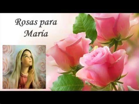 Rosas para María, frases sobre la Virgen María   YouTube