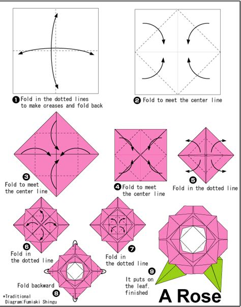 Rose   Easy Origami instructions For Kids