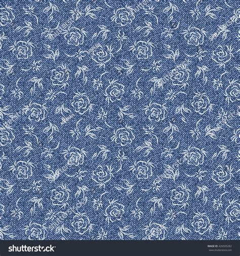 Rose Flower Denim Floral Background Jeans Stock ...