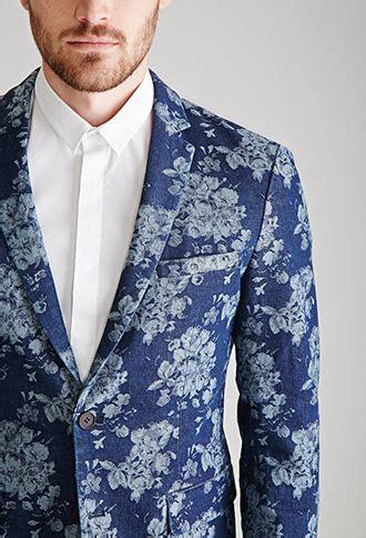 Rose Patterned Denim Blazer | 21 MEN   2000100094 | Mens ...