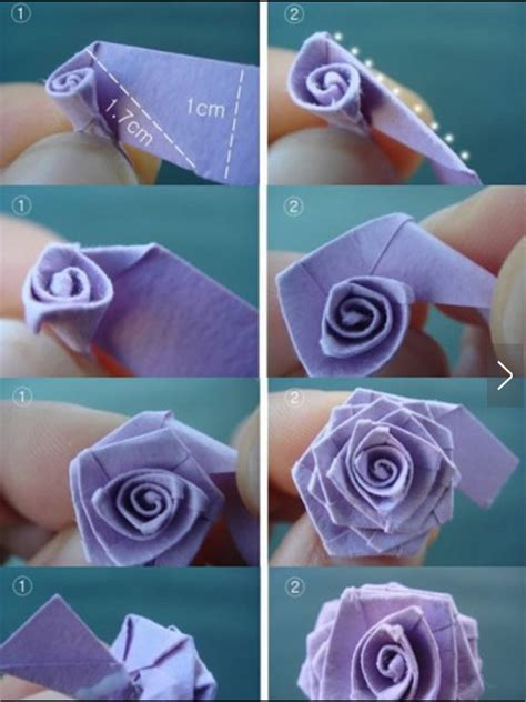 Rose with paper origami method   Fit & Fun for Kids