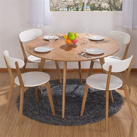 Round dining table combination IKEA dining table and four ...