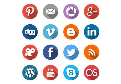 Round Social Media Icons PSD Set   Free Photoshop Brushes ...