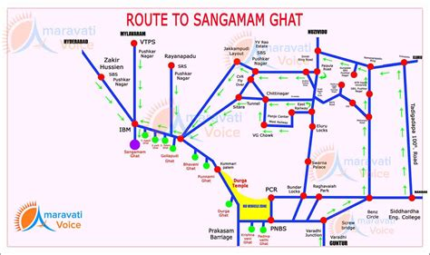 Route Map to Pavitra Sangamam Ghat in Ibrahimpatnam | News