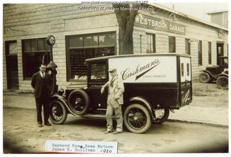 Rowe Motors, Westbrook, 1930   Maine Memory Network