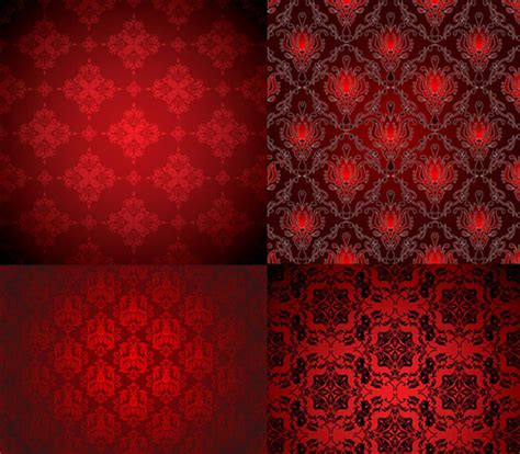 Royal red background pattern free vector download  57,605 ...