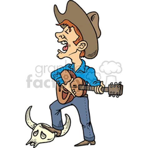 Royalty Free cowboy singing 372122 vector clip art image ...