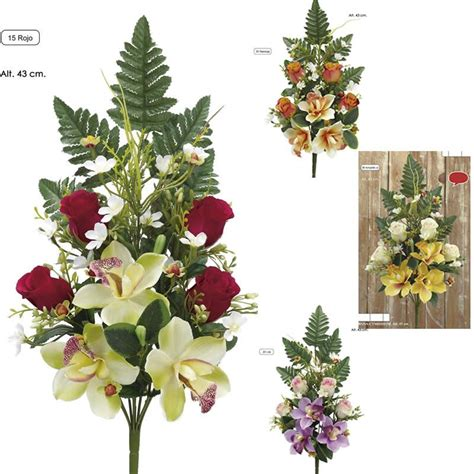 Rramo flores artificiales cementerio   Flor artificial ...