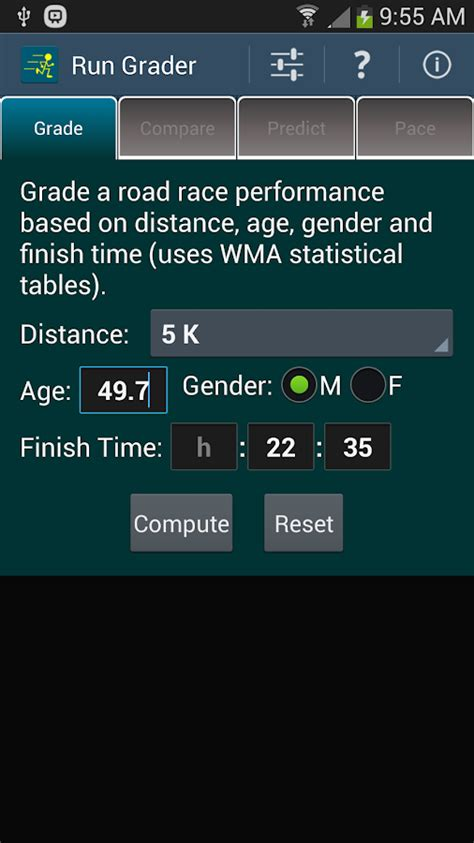 Run Grader   Age Grading +   Android Apps on Google Play
